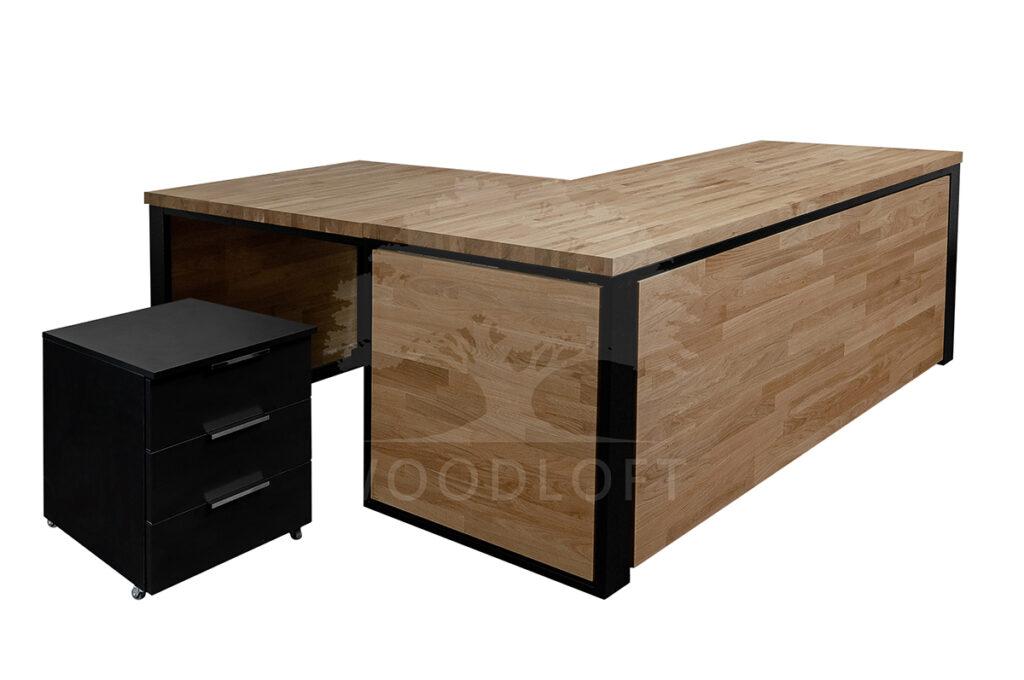 Biurko narożne skandynawskie w biurze